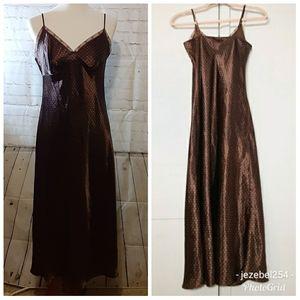 🥞vintage 90s L Jones NY polka dot slip dress